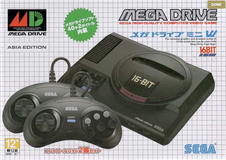 SEGA Mega Drive Mini - Asia Edition (with 2 Controllers): Amazon.es: Videojuegos