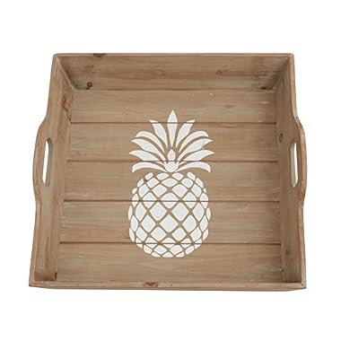 Mud Pie Vintage Style Pineapple Wood Tray