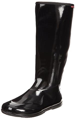 Baffin Women's Packables Rain Boot,Black,10 M US
