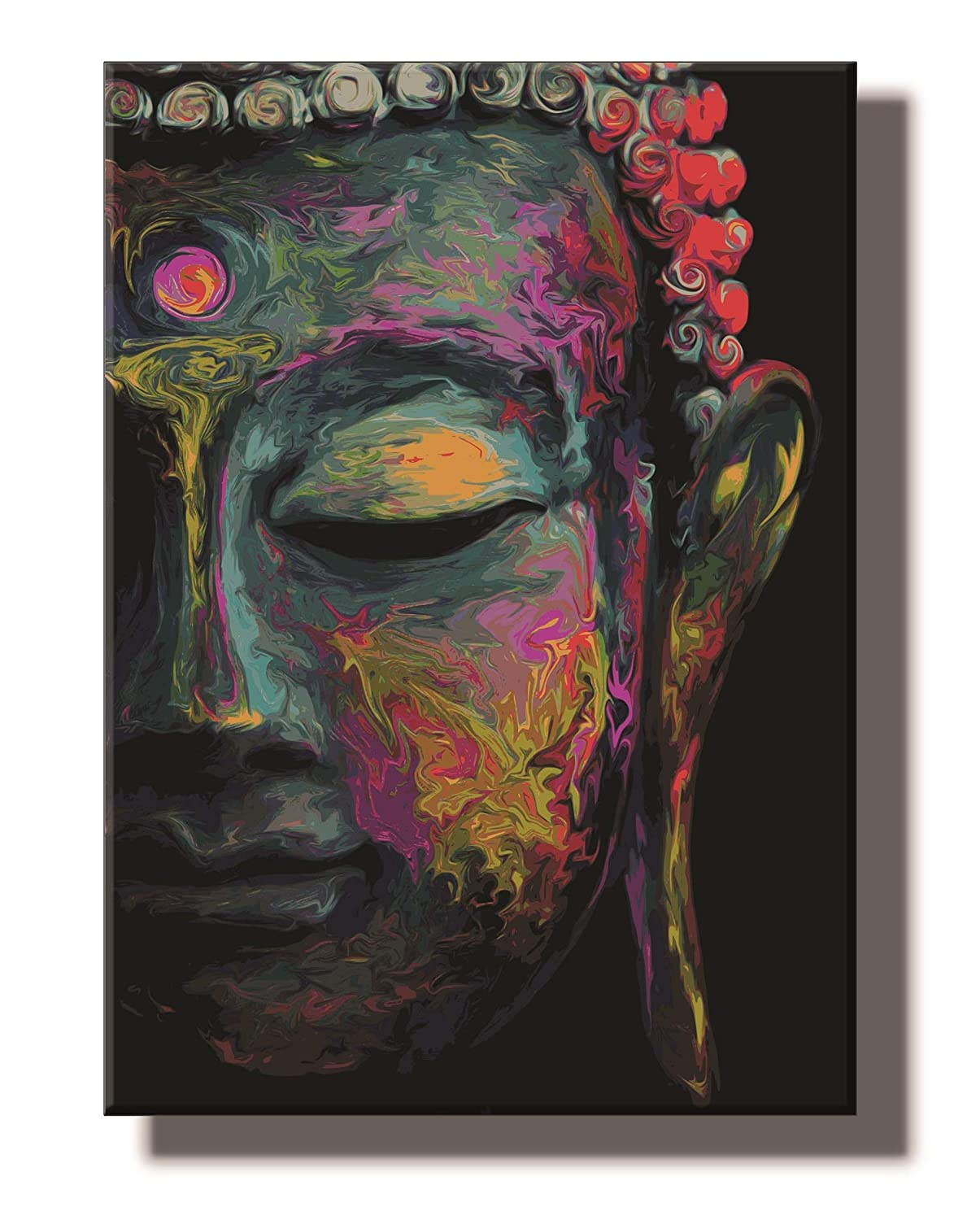Framed Abstract Modern Art Canvas of Lord Buddha