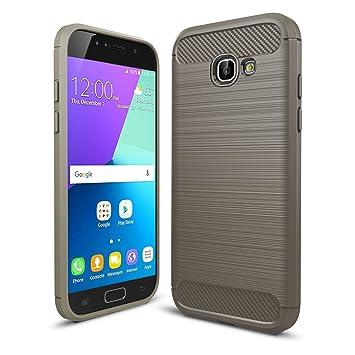 LXHGrowH Funda Samsung Galaxy A5 2017, [Ultra Delgada] Carcasa para Samsung Galaxy A5 2017 A520 Cover Silicona TPU Protectora Color Gris
