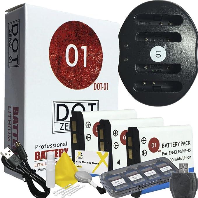 Cargador Doble Para Fujifilm NP-45A NP-45 Batería Para FinePix Z10fd Z20fd Z30fd Z31