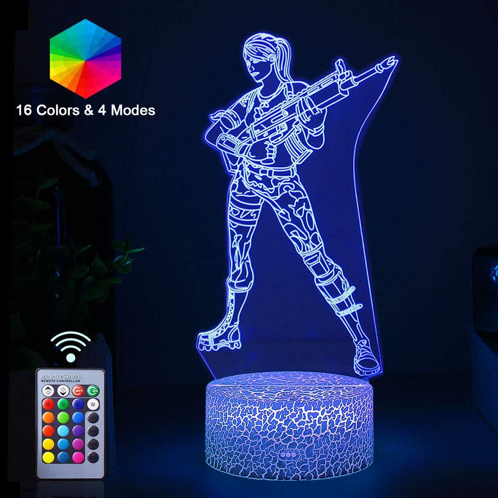 3Dランプ LEDイリュージョンナイトライト RGBカラーチェンジ USBまたはバッテリー電源付き キッズデスクテーブルランプ Fortress ホームベッドルーム装飾 クリエイティブギフト 誕生日ギフト 子供用 B07NVFM7CD Character Scar