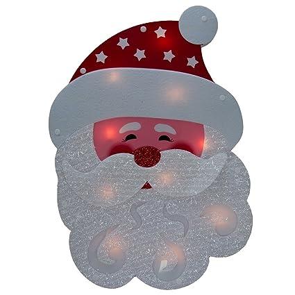 dg home goods lighted holiday santa claus or snowman winter wallwindow hanger christmas decoration