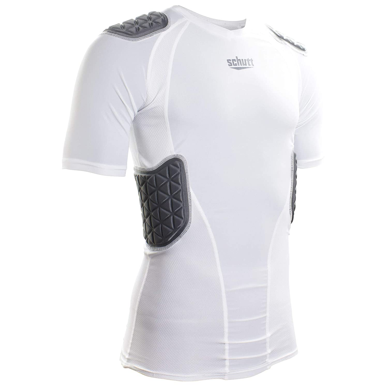 Schutt Protech Tri大人用保護用フットボールシャツ B07B4JJHQ8 ホワイト/グレー Large Large ホワイト/グレー