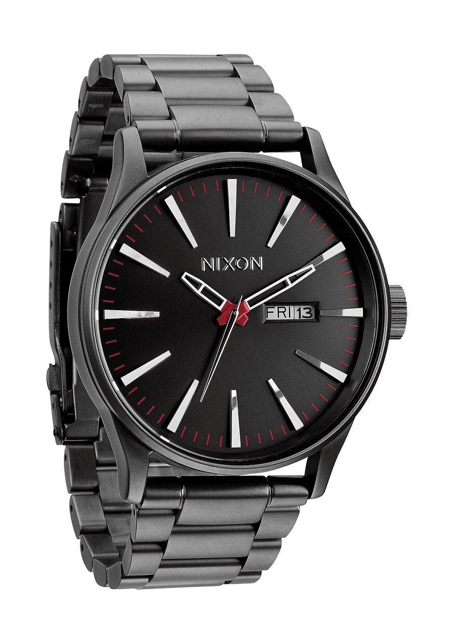TALLA One Size. Nixon Reloj Analógico de Cuarzo para Hombre con Correa de Acero Inoxidable – A356-131-00