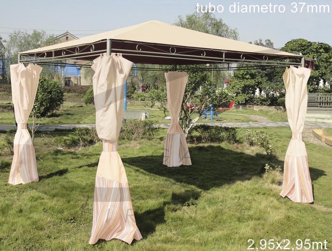 Cenador Crema 2, 95 x 2, 95 x 2, 55: Amazon.es: Jardín