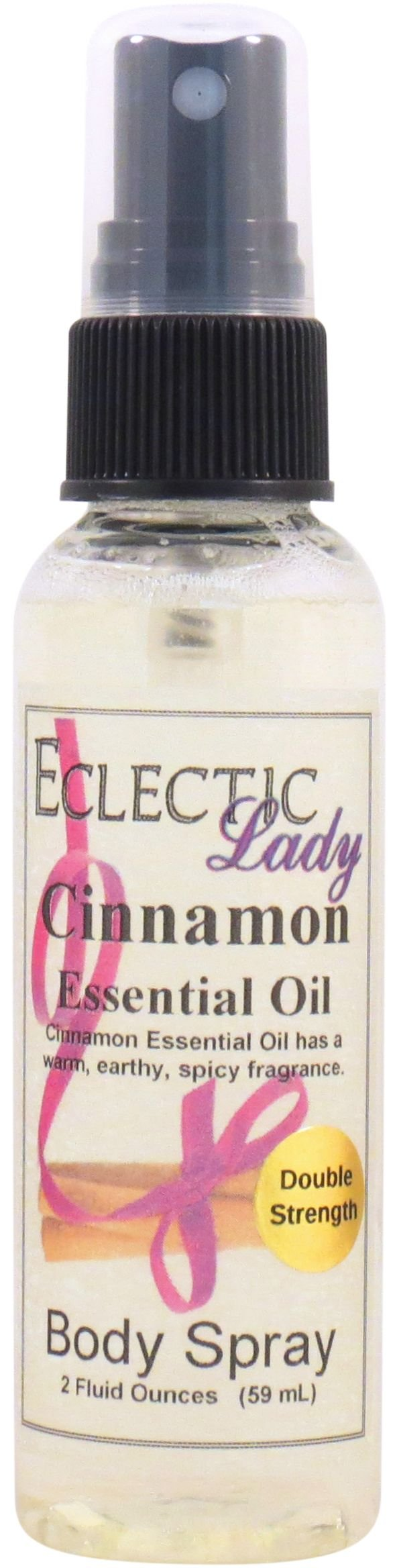 Cinnamon Essential Oil Body Spray (Double Strength), 2 ounces