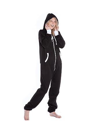 f724aa2d1cdd Big Feet Black Hoodie Jumpsuit Onesie Playsuit Hooded Loungewear for Men    Women