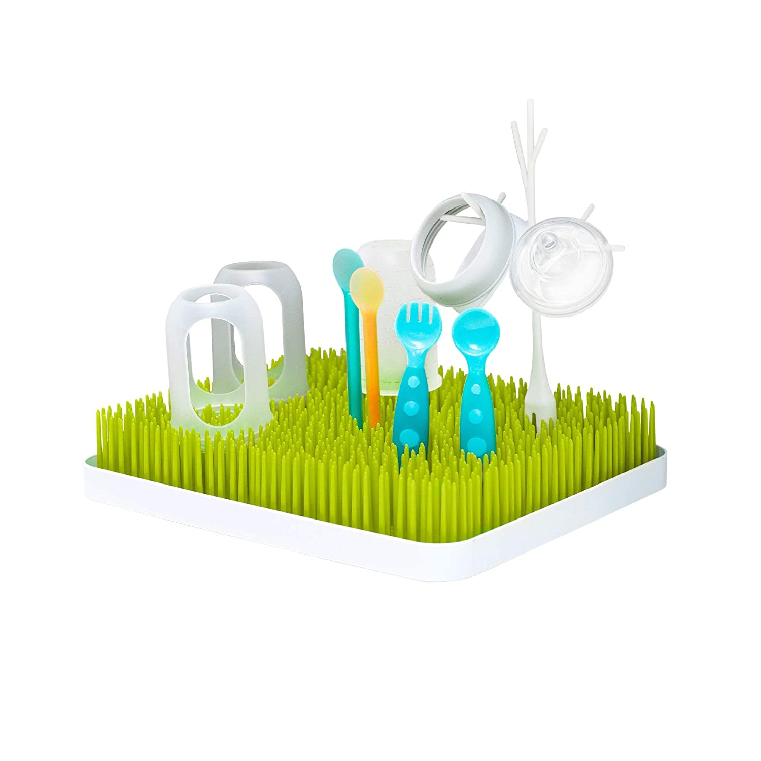 Boon Drying Rack Lawn Countertop, Green : Baby Bottle Drying Racks : Baby