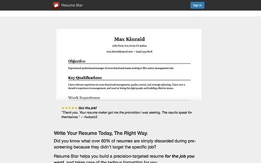 Amazoncom Resume Star Pro Cv Maker And Resume Designer With Pdf