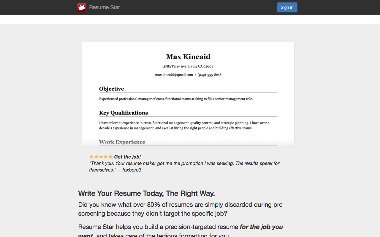 Amazon.com: Resume Star: Pro CV Maker and Resume Designer with PDF ...