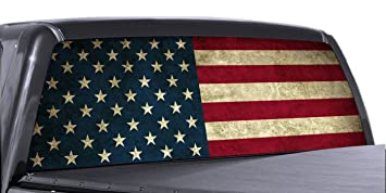 Amazoncom VuScapes AMERICAN FLAG Rear Window Truck Graphic - Truck window decals