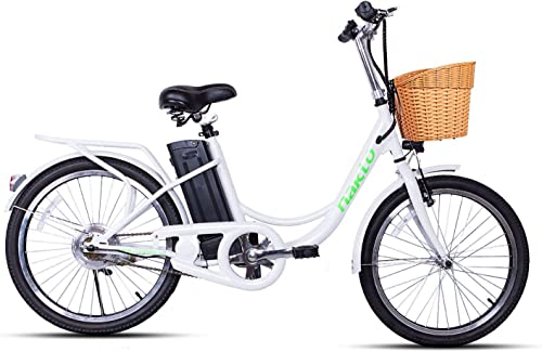 nakto Electric Bicycle Electric Bikes for Adults 250W Brushless Motor Ebike 6- Speed Gear E-Bikes with Removable Waterproof Large Capacity 36V10A Lithium Battery and Charger 20 26