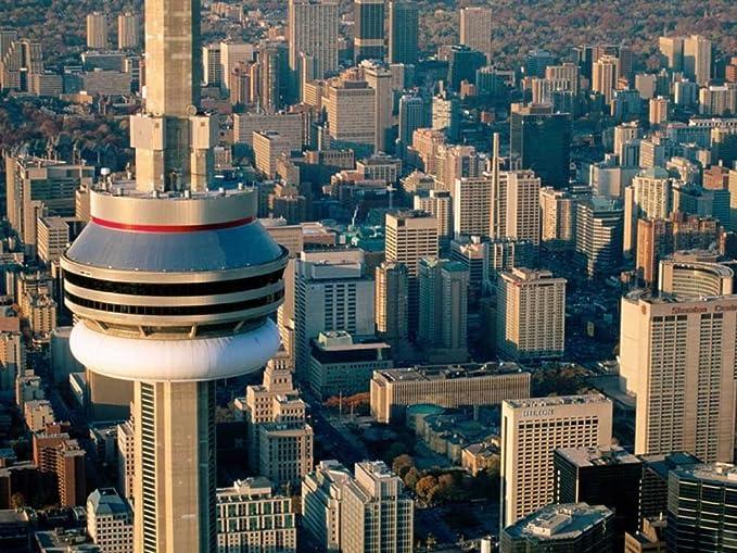 Antena view of the cn de Canadá de la torre de toronto - Art ...
