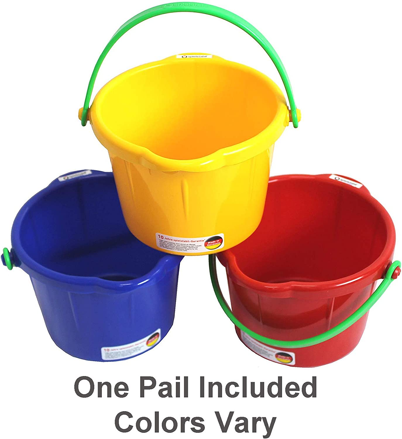 Amazon Com Spielstabil Small Sand Pail 1 5 Liter One Pail Included Colors Vary Made In Germany Toys Games