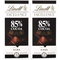 Lindt Excellence 85% Cocoa Chocolate, 2 X 100 g