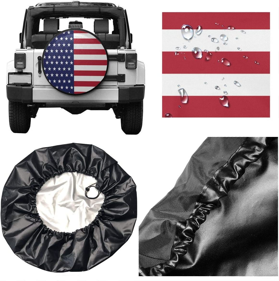 RV SUV Truck Wheel Waterproof Spare Tire Cover Canadian Armed Forces Wheel Covers Universal Tires Protectors for Trailer
