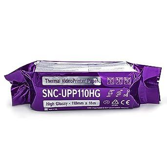 Rollo de papel Sony UPP-110 HG compatible con impresora térmica de ...