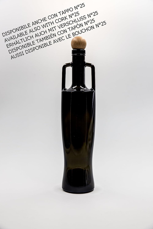 nr 1 bouteille Ellenia 500 ml en verre vert fonc/é bouchon n/°22