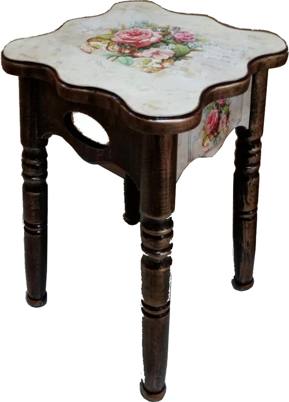 エスティアート(ST Art) スツール ローズ柄 47x27x27cm アンティーク調スツール(椅子) 120-84 B07K2DYSLS