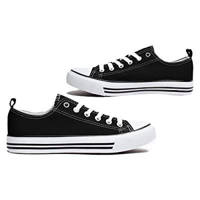 Women's Canvas Sneakers Casual Shoes Solid Colors Low Top Low Cut Lace up   Fashion Sneakers