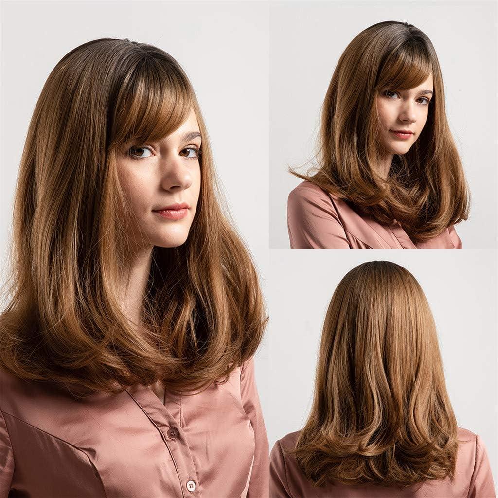 Angelof - Peluca natural para mujer (pelo brasileño), diseño de ...