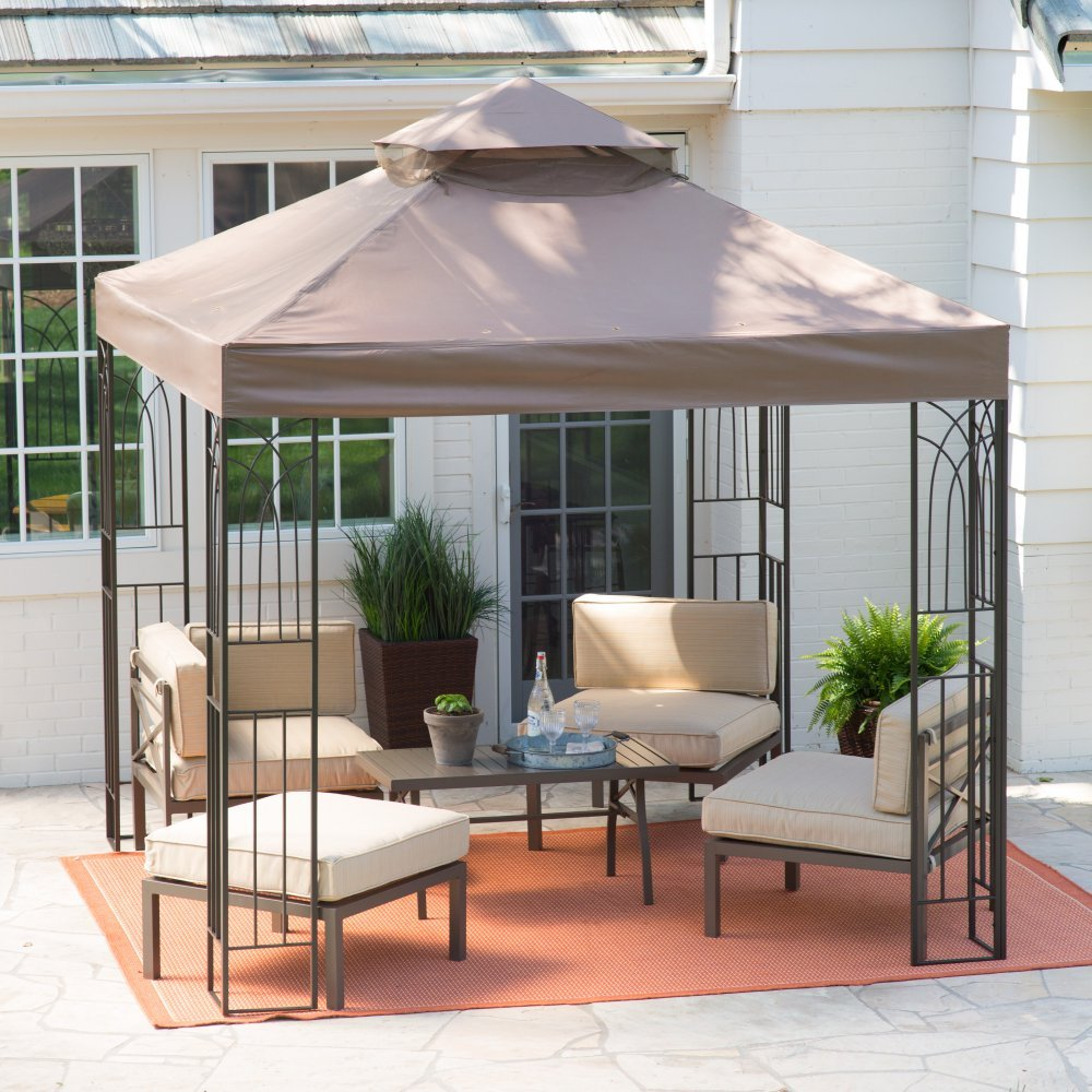 amazon com coral coast prairie grass 8 x 8 ft gazebo canopy