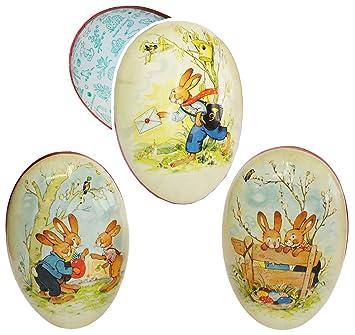 XL Fülleier 3 Modelle Pappeier Papp-Ei zum Befüllen Füllei Nostalgie 25 cm