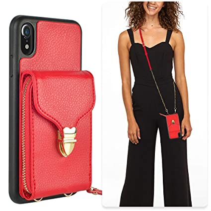 Amazon.com: JLFCH - Funda tipo cartera para iPhone XR con ...