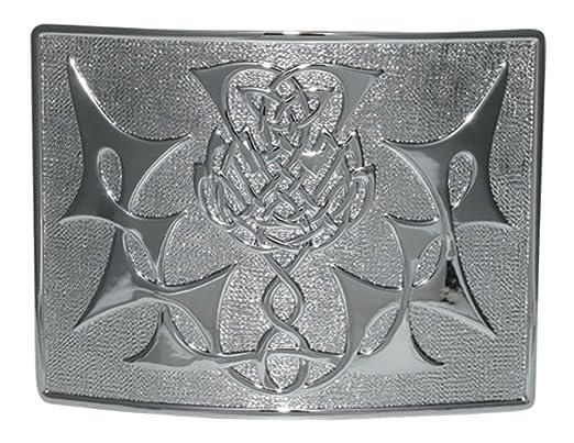 Highland Celtic hebilla de cinturón Thistle para falda escocesa ...