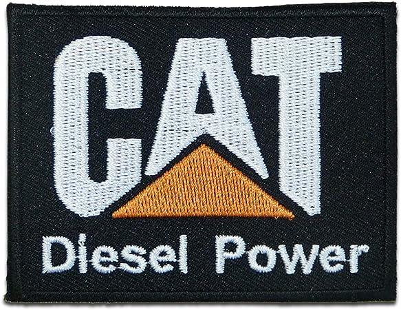 Parches - CAT LOGO - negro - 7.6x6.4cm - termoadhesivos bordados ...