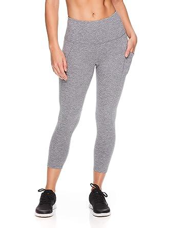 Reebok Womens High Waisted Capri Workout Leggings - Cropped ...