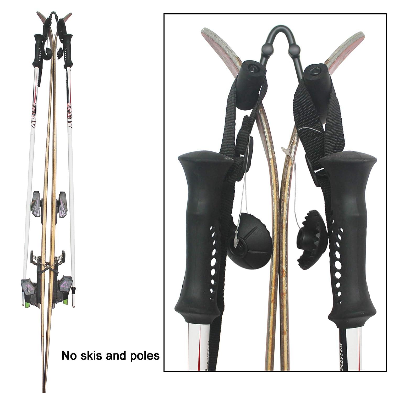 No Skis and Poles YYST V Style Ski Wall Mount Ski Wall Holder Ski Wall Rack 5//PK Hold Heavy Skis YI YA SU