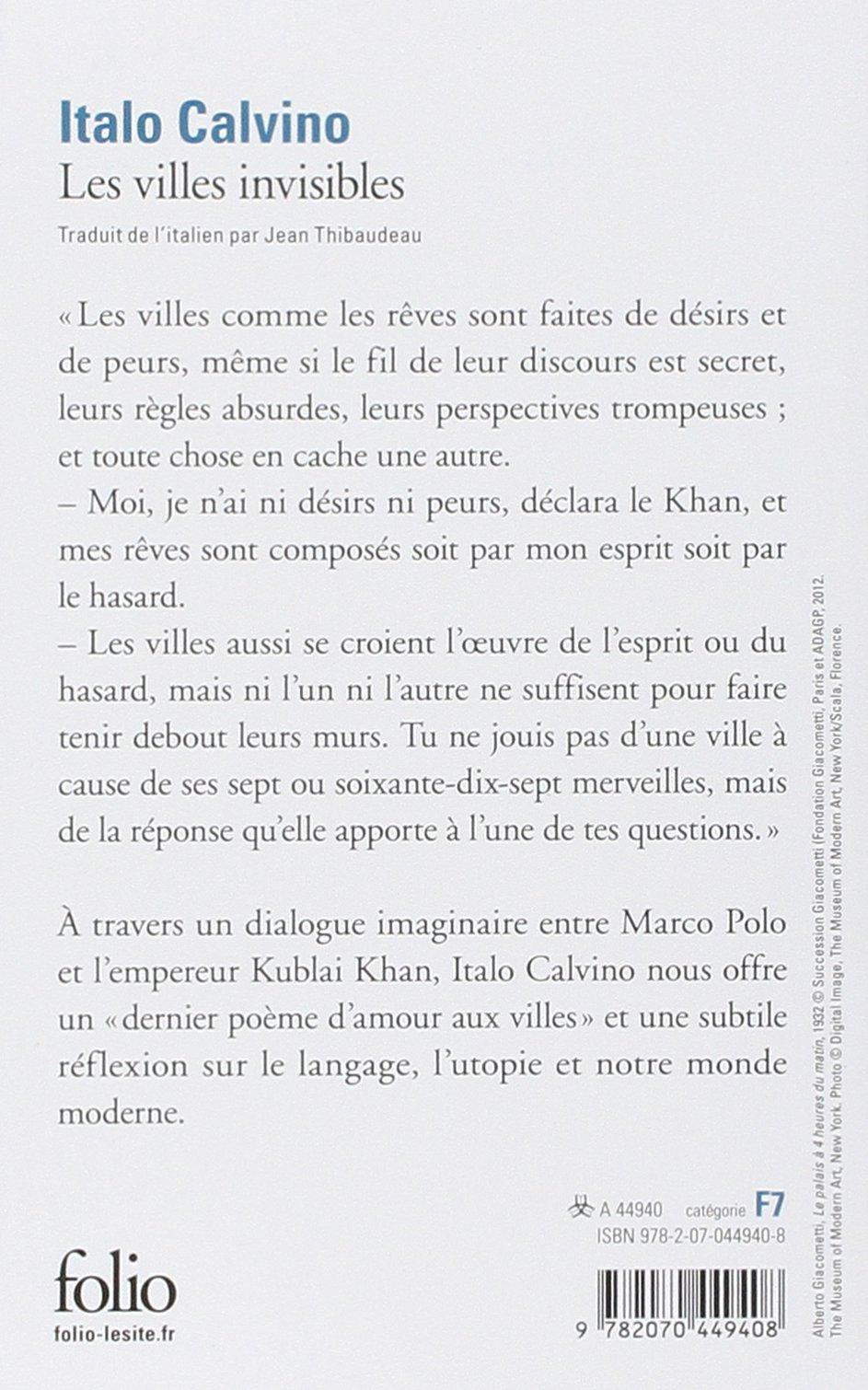 Les Villes Invisibles Folio Amazones Italo Calvino