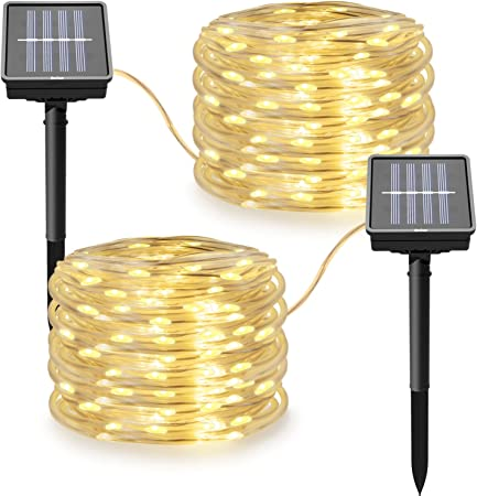 100 LED Waterproof Solar Powered Rope String Light For Outdoor//Indoor Use