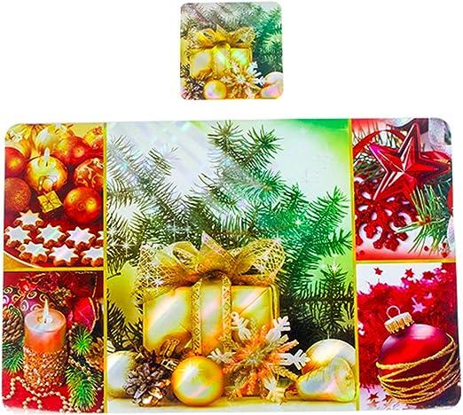 Amazon Com Bestoyard 12pcs Christmas Placemats Coaster Table Mats