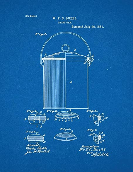Amazon paint can patent print art poster blueprint 16 x 20 paint can patent print art poster blueprint 16quot malvernweather