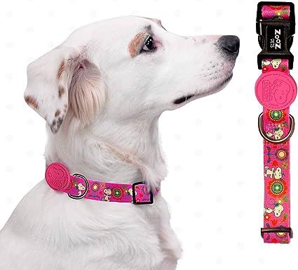 Size Small Blue /& White Stripe with 1 Big Pom Pom Adjustable Dog Collar