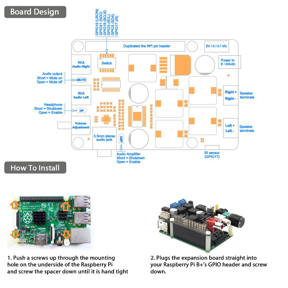 Multifunktions X400 Expansion Board Fr Elektronik Raspberry Pi Wiring Diagram On Capacitor As Speaker Crossover