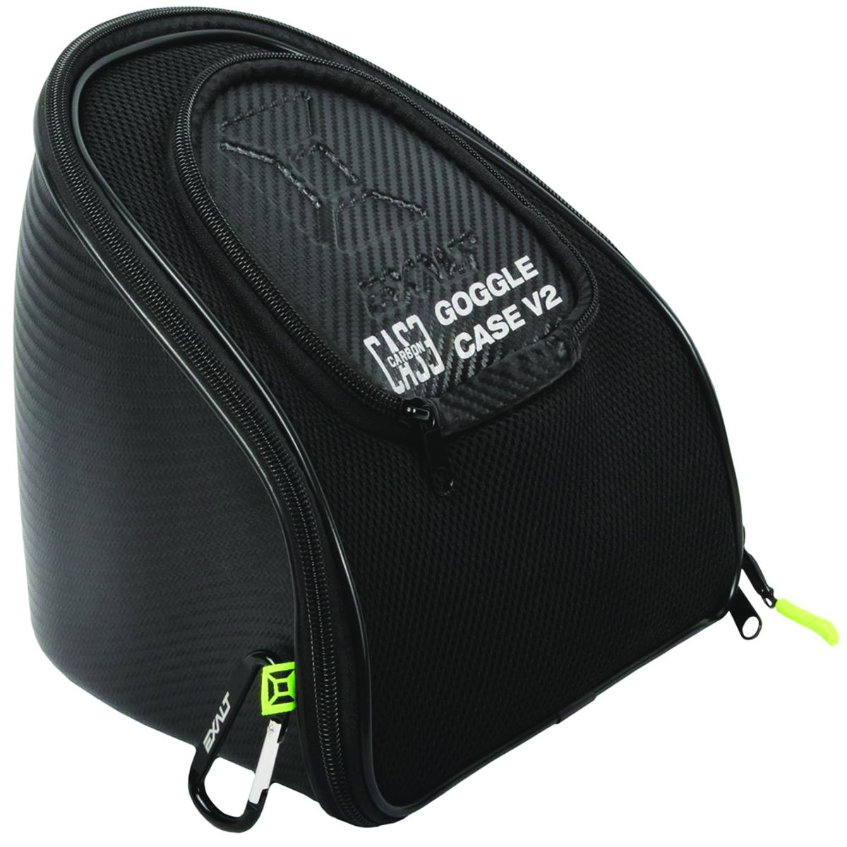 Exalt Paintball Carbon Series Goggle Case V2 - Black / Lime