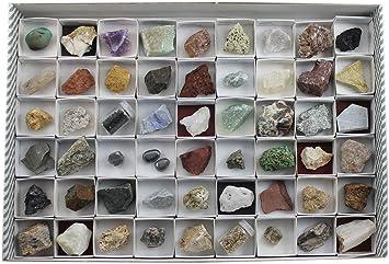 Arcoci Colección de 54 minerales y Rocas: Amazon.es: Juguetes y juegos