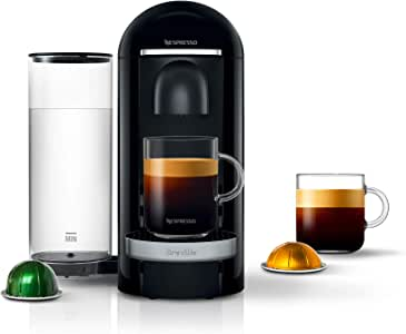 Nespresso VertuoPlus Deluxe Coffee and Espresso Machine by Breville, Black