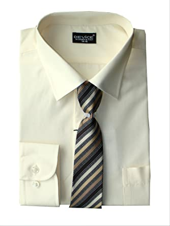 d8586c506 Image Unavailable. Image not available for. Color: DEVICE Shirt Boys Tie Set  Long Sleeve Formal Smart ...