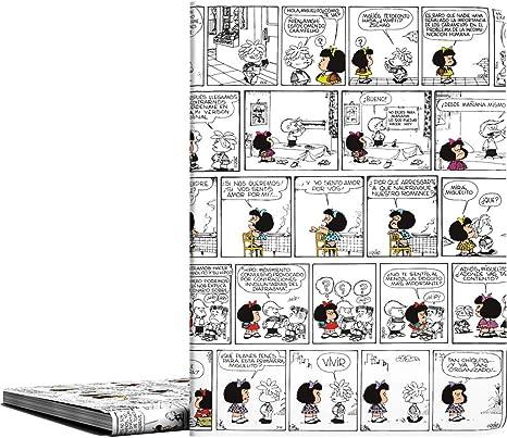 Carpeta de Fundas A4 Soldadas, Diseño Mafalda Comic, 30 Fundas Transparentes, Cubiertas de Polipropileno: Amazon.es: Oficina y papelería