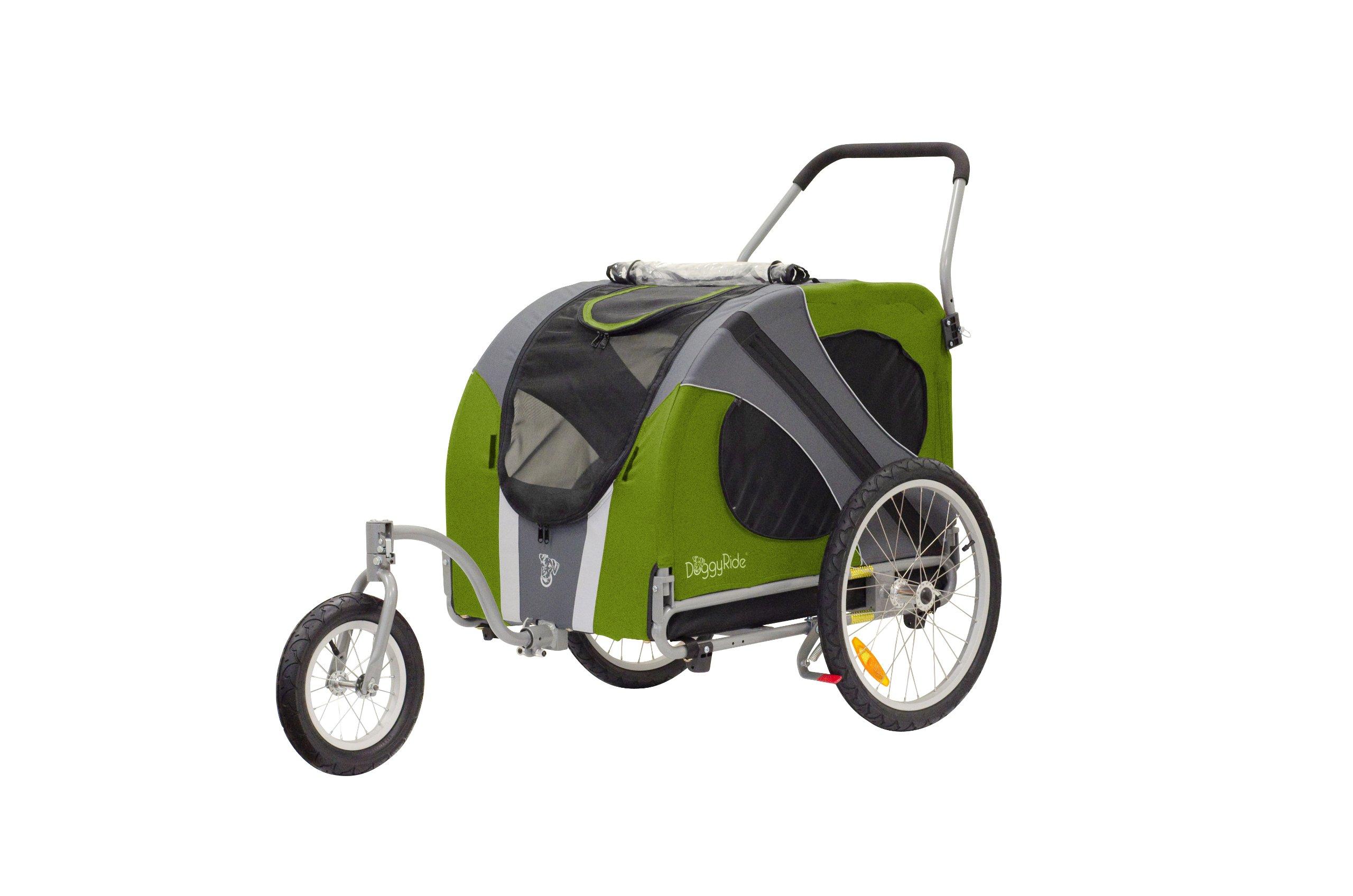 DoggyRide Novel Dog Jogger-Stroller, Outdoors Green