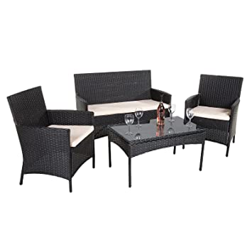 8b5b2b73887a Alfresia Bordeaux Poly-Rattan Garden Furniture Set: Amazon.co.uk ...