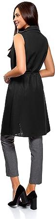 oodji Collection Mujer Chaleco Largo con Cinturón
