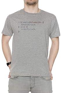 Erido Hungry Coder Hombre Camiseta Cuello Redondo Gris Manga Corta Todos  Los Tamaños Men s Grey T 26a7fdacdd42f