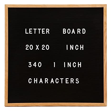 Amazoncom Changeable Letter Board Large 20 X 20 Inch Oak Wood